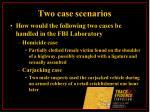 two case scenarios