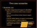 two case scenarios19