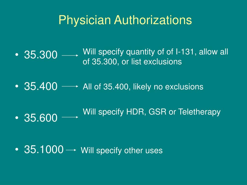 Physician Authorizations