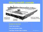 siting a landfill example