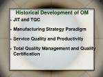 historical development of om
