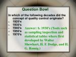 question bowl20