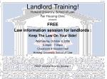 landlord training