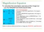 magnification equation