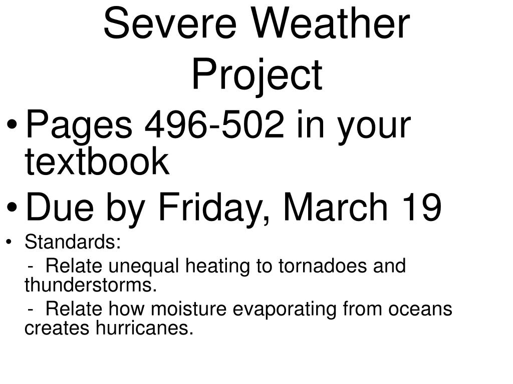 severe weather project l.