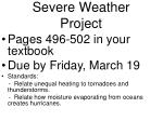severe weather project