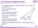 constructing a triangle given asa5