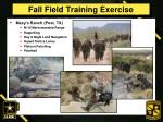 fall field training exercise