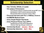 scholarship selection