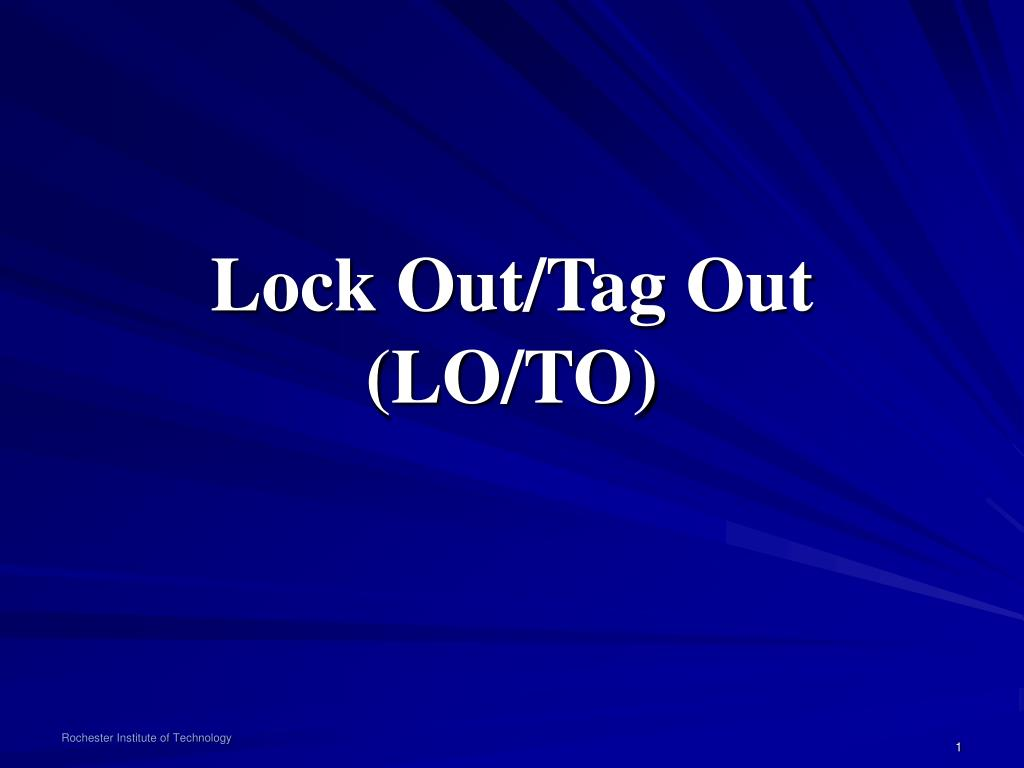 lock out tag out lo to l.