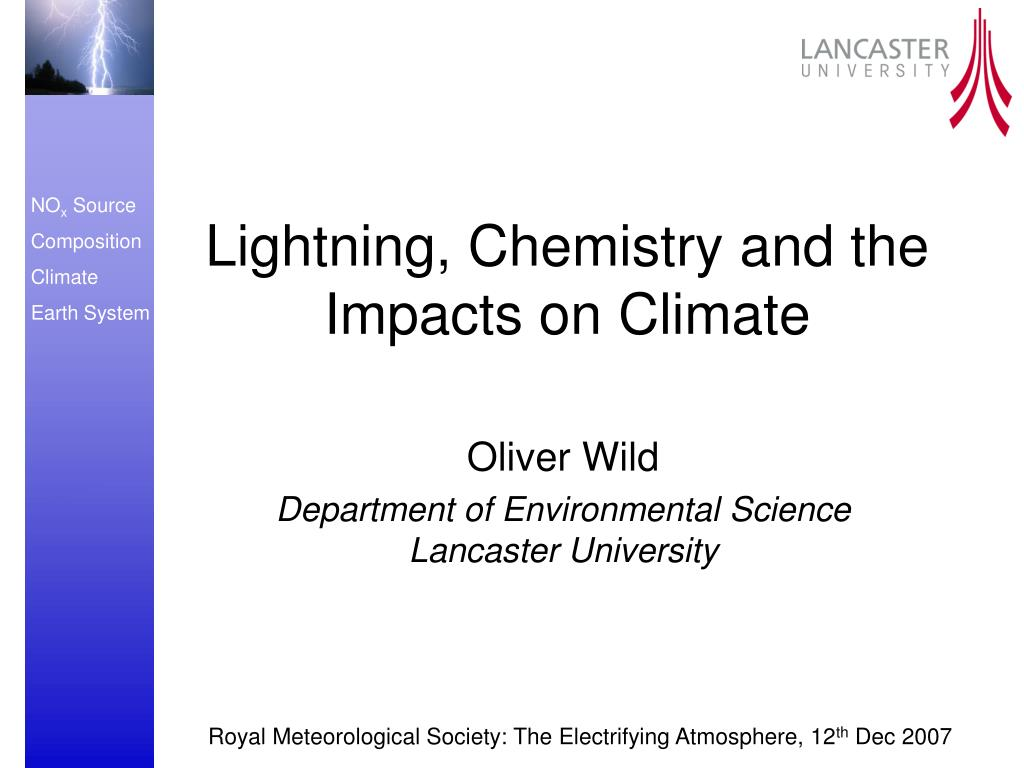 lightning chemistry and the impacts on climate l.
