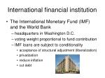 international financial institution