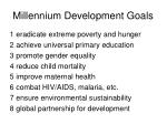 millennium development goals8