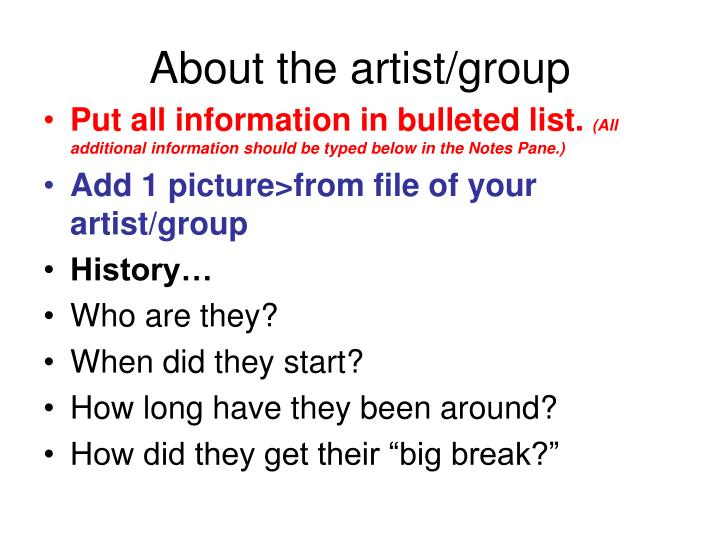 About the artist group