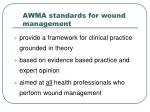 awma standards for wound management