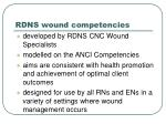 rdns wound competencies