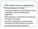 the need to prove competence