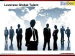 leverage global talent