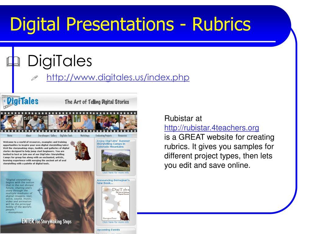 Digital Presentations - Rubrics