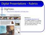 digital presentations rubrics