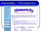 filamentality the original 2 0