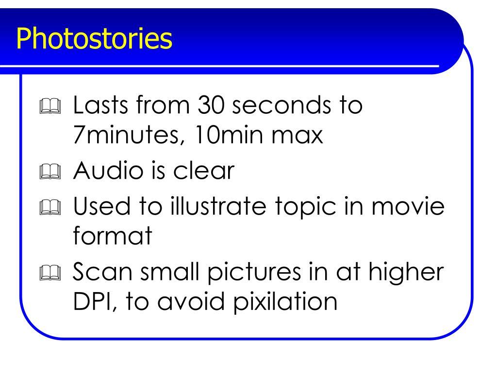 Photostories