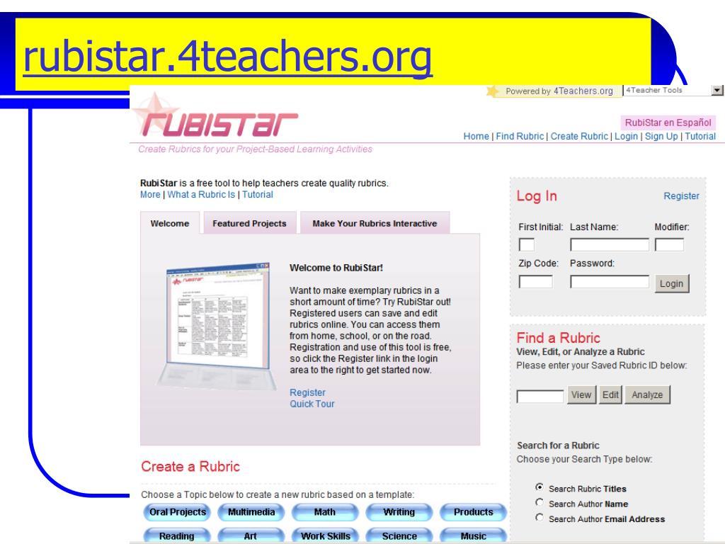 rubistar.4teachers.org
