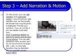 step 3 add narration motion