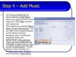 step 4 add music