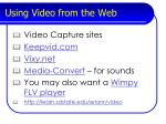 using video from the web35