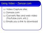 using video zamzar com