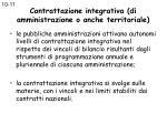 contrattazione integrativa di amministrazione o anche territoriale