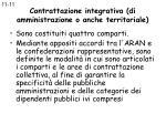 contrattazione integrativa di amministrazione o anche territoriale65