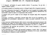 d lgs n 165 2001 art 17 funzioni dei dirigenti