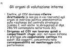 gli organi di valutazione interna21
