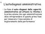 l autodiagnosi amministrativa