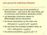 let s prove the sufficiency theorem