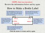 how to make a bottle label