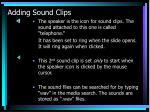 adding sound clips