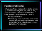 importing motion clips