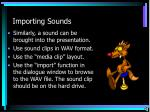 importing sounds
