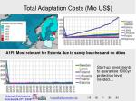 total adaptation costs mio us