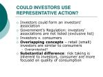 could investors use representative action