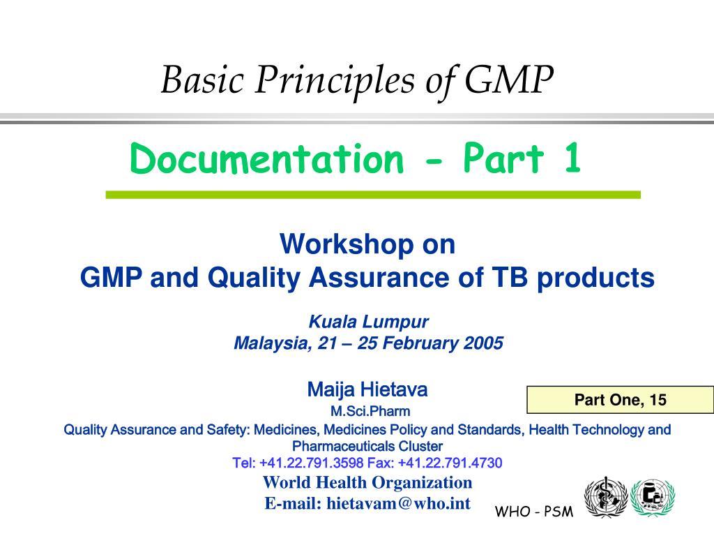 basic principles of gmp l.