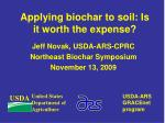 applying biochar to soil is it worth the expense