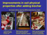 improvements in soil physical properties after adding biochar
