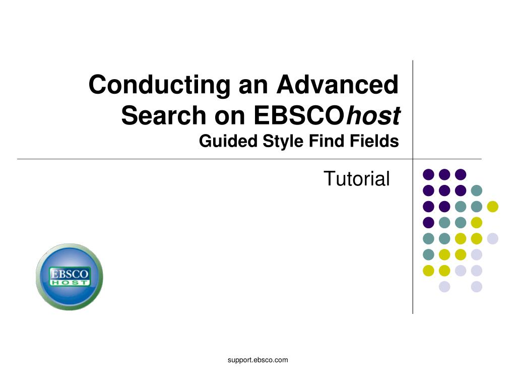 conducting an advanced search on ebsco host guided style find fields l.