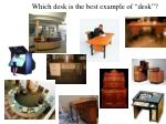 which desk is the best example of desk