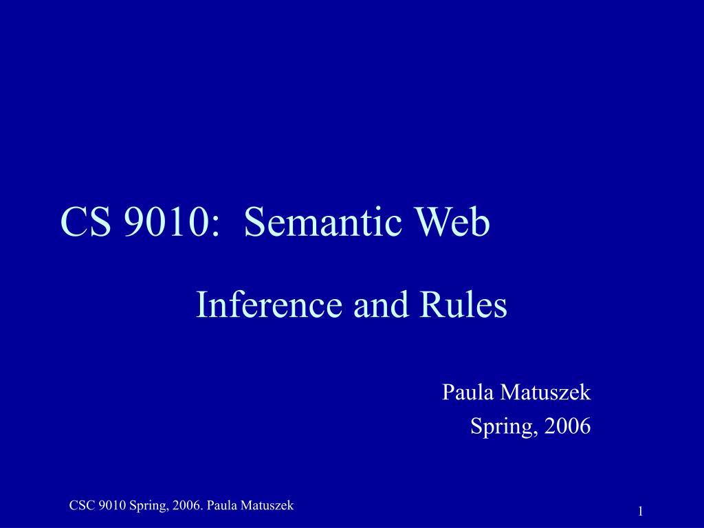 cs 9010 semantic web l.