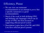 efficiency please
